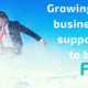 Businessman on a ski slope